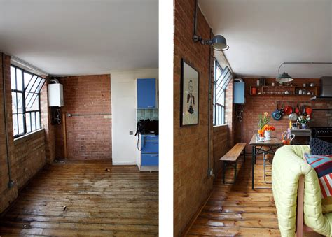 home design before and after industrial warehouse conversion cassidy hughes interior