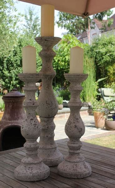 magnificent stone effect candlestick