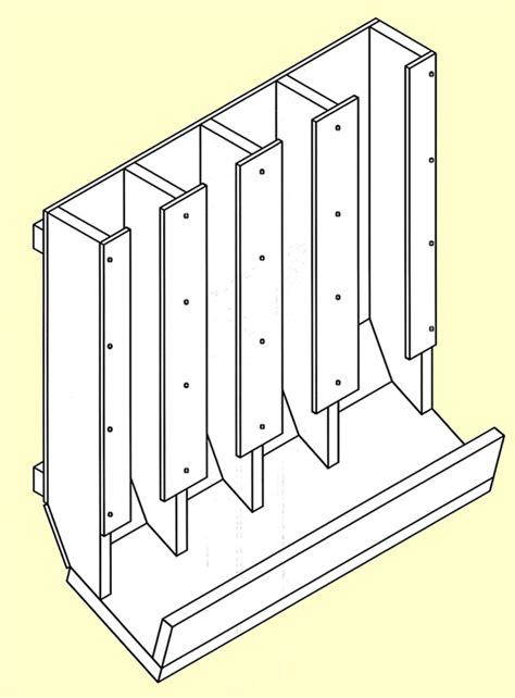 food storage  rotation shelf plans  woodworking