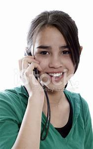 Attractive Young Woman Calling BY Cellular Phone Stock ...