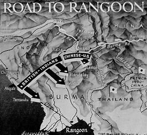 Road To Rangoon  Burma Campaign Map  Cbi