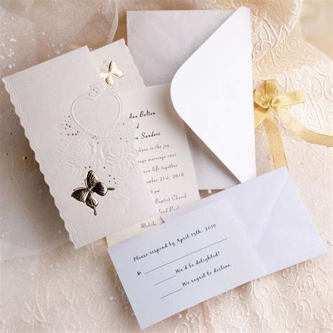 inexpensive wedding invitations kits