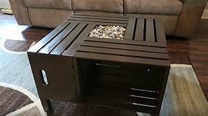 Rustic Wine Crate Coffee Table