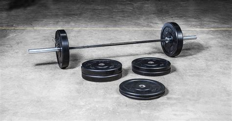 bravo bar bumper plate set rogue fitness weightlifting