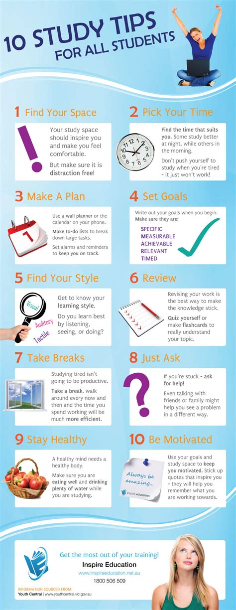 » 10 Ways To Study Smart [infographic]