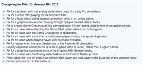 minecraft wii  update  notes  tu  hold