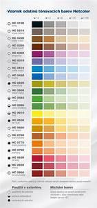 Tónovací barvy vzorník