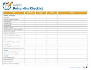 Purchase Template Excel Rebranding Checklist