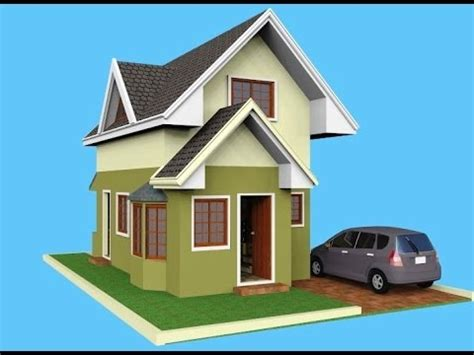 small house with attic small house design attic 3d rendered youtube