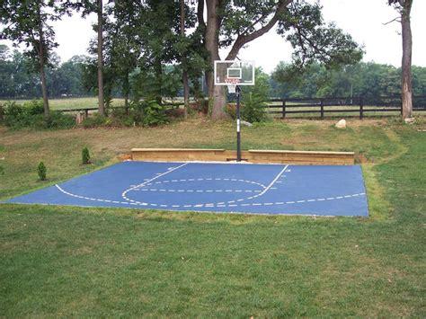diy backyard basketball court rickyhil outdoor ideas