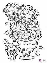 Coloring Dessert Pages Bubakids sketch template