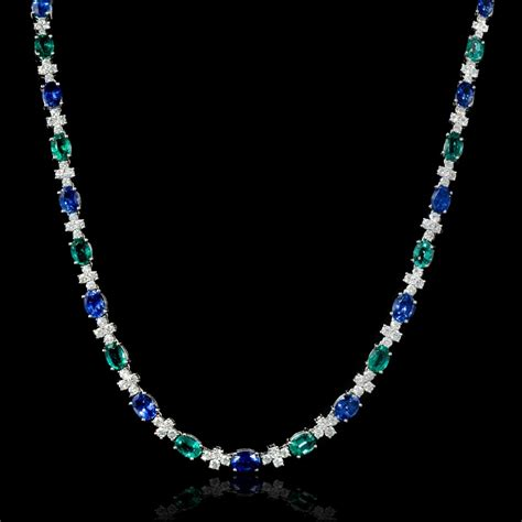 ct diamond emerald  ceylon blue sapphire  white