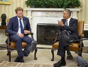 Prince Harry walks into Oval Office for meeting with ...