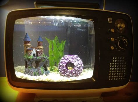 fish tank   retro tv upcycle  furniture