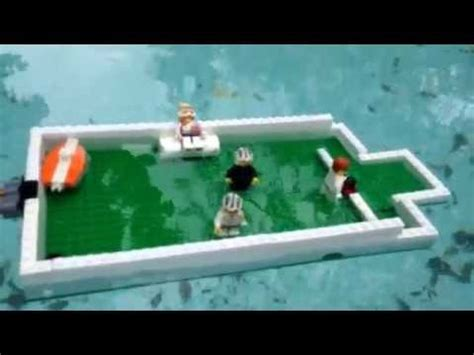 lego ship sinking in pool motion air sinks two lego boats m4v
