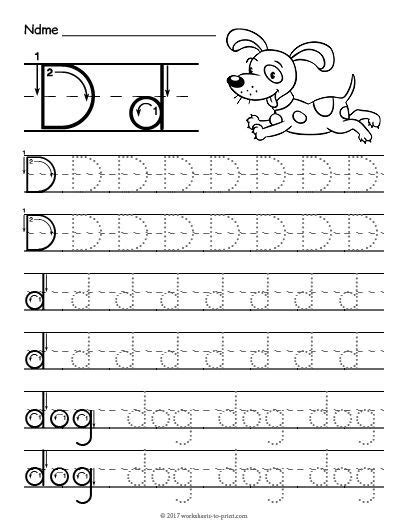 free printable tracing letter d worksheet kindergarten letter d worksheet tracing letters