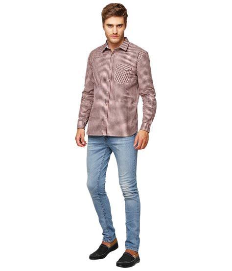 yepme rooney brown checkered shirt  men buy yepme