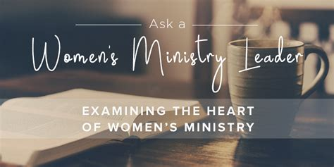examining  heart  womens ministry leader