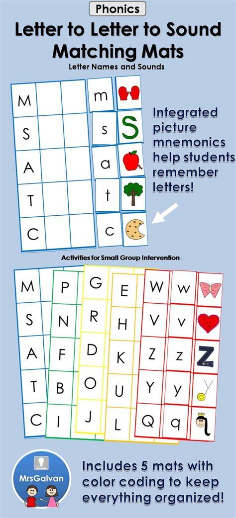 alphabet matching mats  letter names  beginning