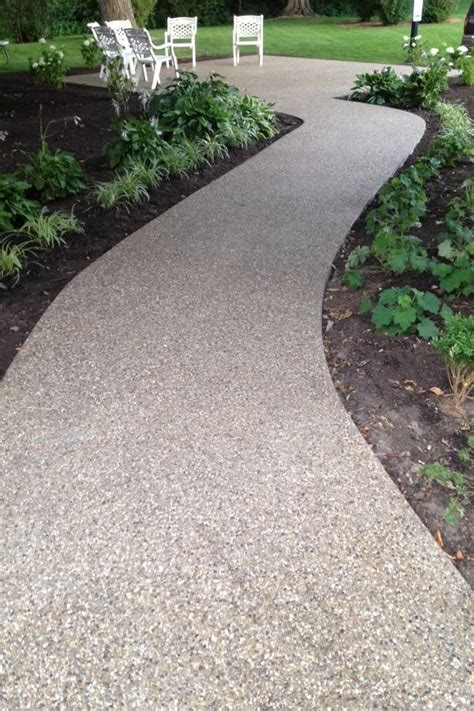 exposed aggregate patio  indiana  hanson stamped concrete  michigan pinterest