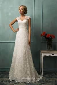 sleeve lace bridesmaid dresses vintage a line cap sleeves floor length lace wedding dress instyledress co uk