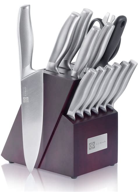 kitchen knives block set chef s knife sets 15 stainless steel kitchen knives
