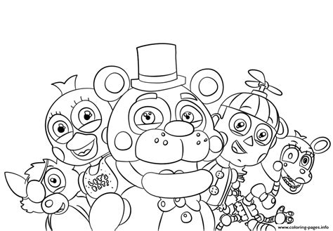Five Nights At Freddys Kleurplaat by Five Nights At Freddys All Characters Coloring Pages Printable