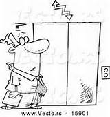 Elevator Coloring Pages Cartoon Drawing Template sketch template