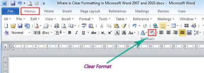 Where Is The Clear Formatting In Microsoft Word 2007 2010 Apa Template For Word 2010 MLA Format Microsoft Word 2013 MLA Format APA Template For Word For Windows Reference Point Software