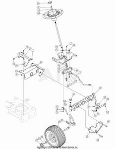 Troy Bilt 13ax60tg766 Super Bronco  2006  Parts Diagram For Steering  U0026 Front Axle