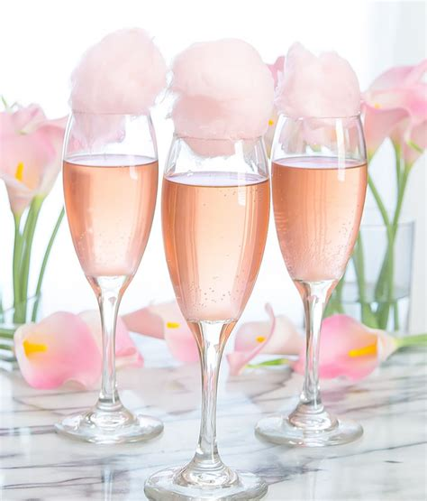 cotton candy champagne cocktails kirbies cravings