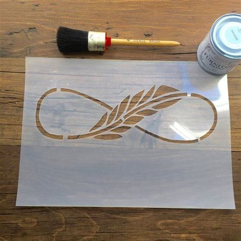 feather  scroll stencil     thickness film