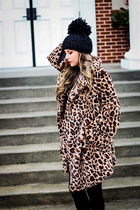 leopard print faux fur coat vogue  breakfast
