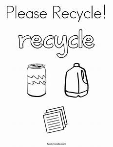 please recycle coloring page twisty noodle With how to recycle
