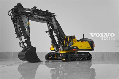 moc fully rc volvo ecel excavator lego technic  model team eurobricks forums