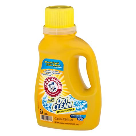 detergen liquid laundry arm hammer plus oxiclean stain fighters fresh scent