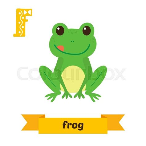 animals that start with the letter f frog f letter children animal alphabet in vector 20456 | 800px COLOURBOX18972454