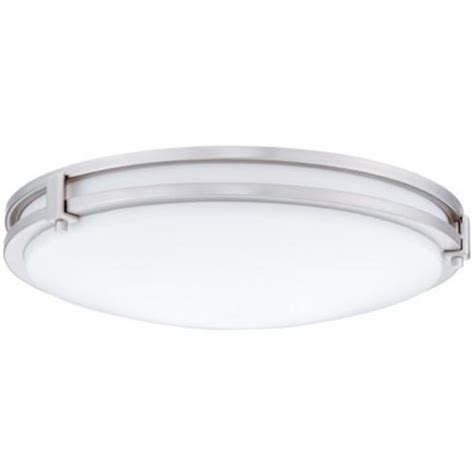 menards flush ceiling lights 13 in 3000k led brushed nickel saturn led flush mount at