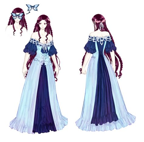 Illen - Gown Dress colored by Awa303 on DeviantArt