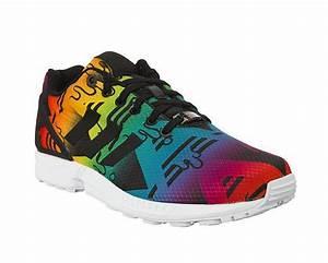 Adidas Originals Zx Flux  U0026quot Splash Colors U0026quot   Multicolor