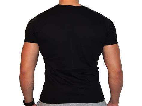 zwart t shirt v hals