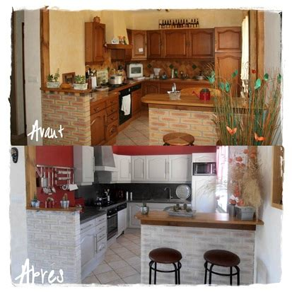 renovation cuisine bois avant apres avant après photo de rénovation cuisine patine