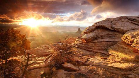 วอลเปเปอร์ : แสงแดด, แนวนอน, หิน, ธรรมชาติ, ท้องฟ้า, เมฆ ...