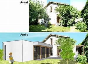 extension contemporaine et renovation dune maison des With extension maison en l 18 sas dentree