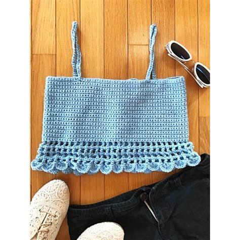 Tops | Homemade Caged Scallop Knit Crochet Crop Top | Poshmark