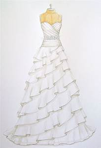 Girls With Frock Easy Pencil Drawings Wedding Dress