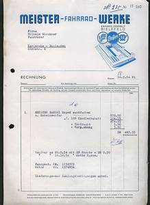 Fahrrad Auf Rechnung : l275 bielefeld fahrrad werke meister rechnung 1954 ebay ~ Themetempest.com Abrechnung