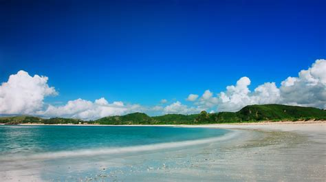 foto wisata indah pantai tanjung aan tempat wisata