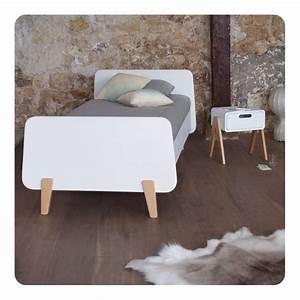 Meuble Pied De Lit : lit mm pieds bois naturel 90x190cm laurette ~ Teatrodelosmanantiales.com Idées de Décoration
