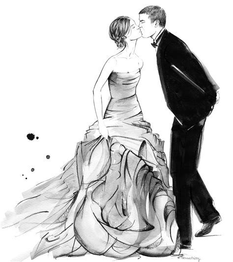 Illustration dust: Wedding Illustration